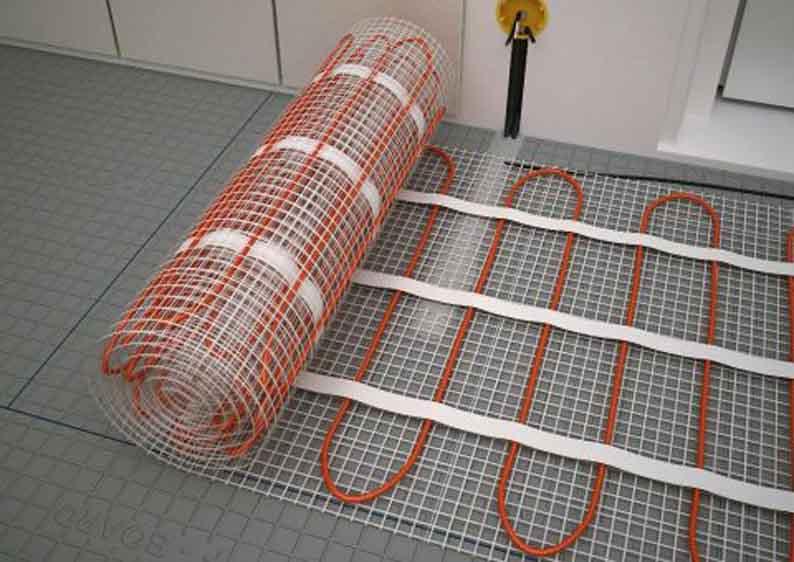 Отопление электронагревателями: электрический теплый пол